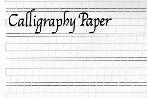 ... ruled PDF suitable forcalligraphy practice, with ascender and